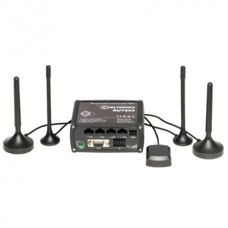 RUT 955 - router LTE(100Mbps / 50Mbps) dual SIM, WiFi, 4x Ethernet,, I/O, RS232, RS485, GPS